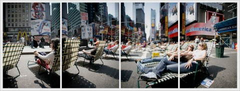Photograph of Times Square by Damon Winter of the New York Times