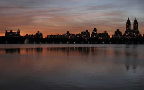 Central Park Reservoir at Sunset