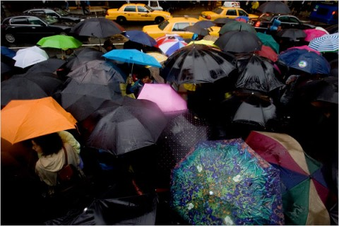 Heavy Rain Hits New York: Jenn Ackerman/The New York Times