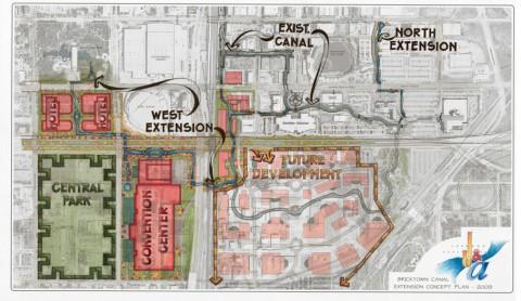 Bricktown Canal Extension Concept Plan